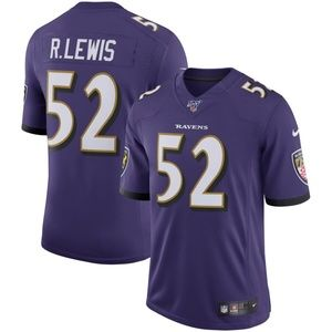 Men's Baltimore Ravens 52 Ray Lewis 100 Jersey
